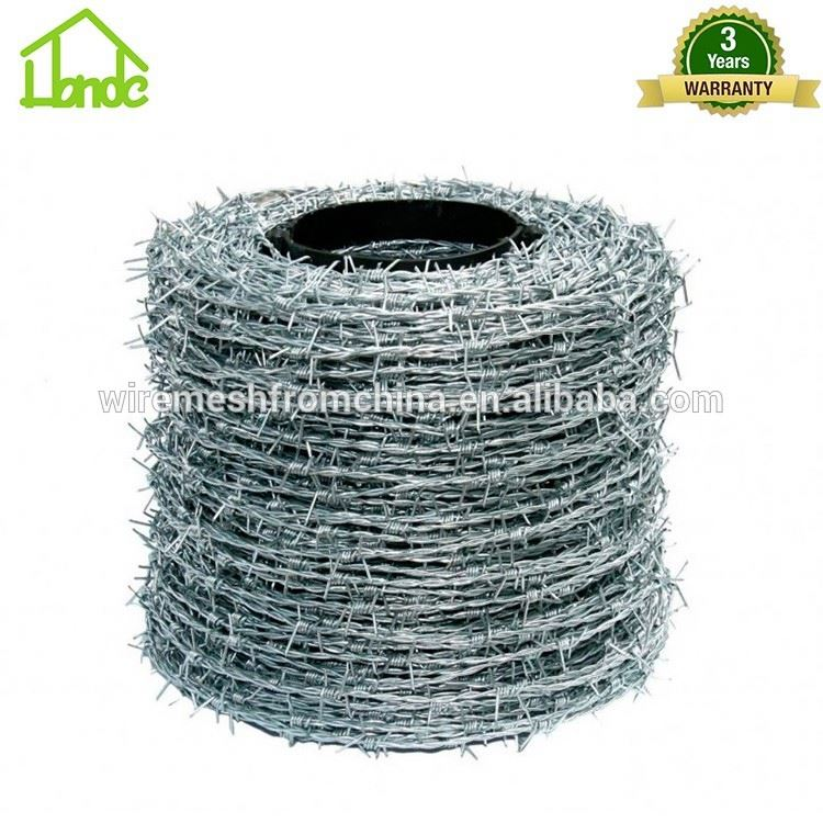 good quality grass boundary galvanized barbed wire
