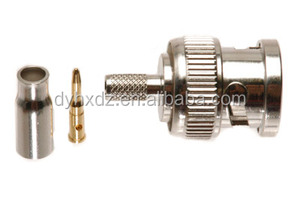 BNC male plug crimp connector for RG174 cable