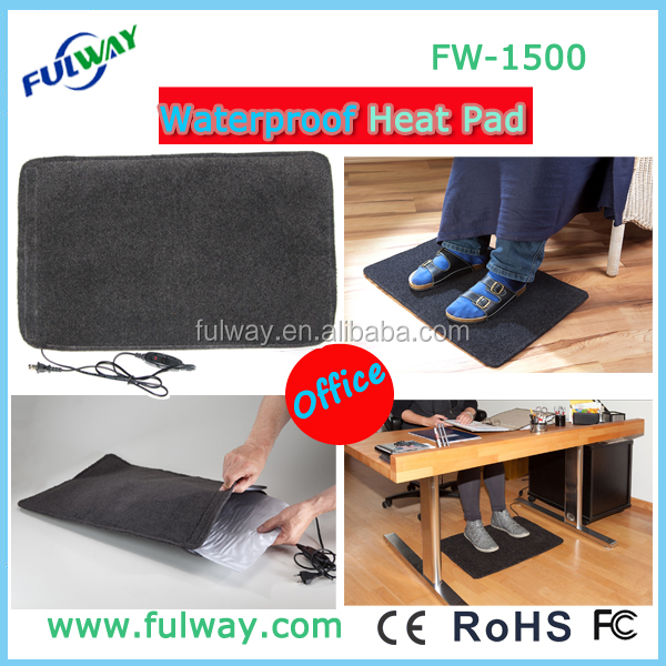 China factory sale mini warm mat electric foot warmer heating pad