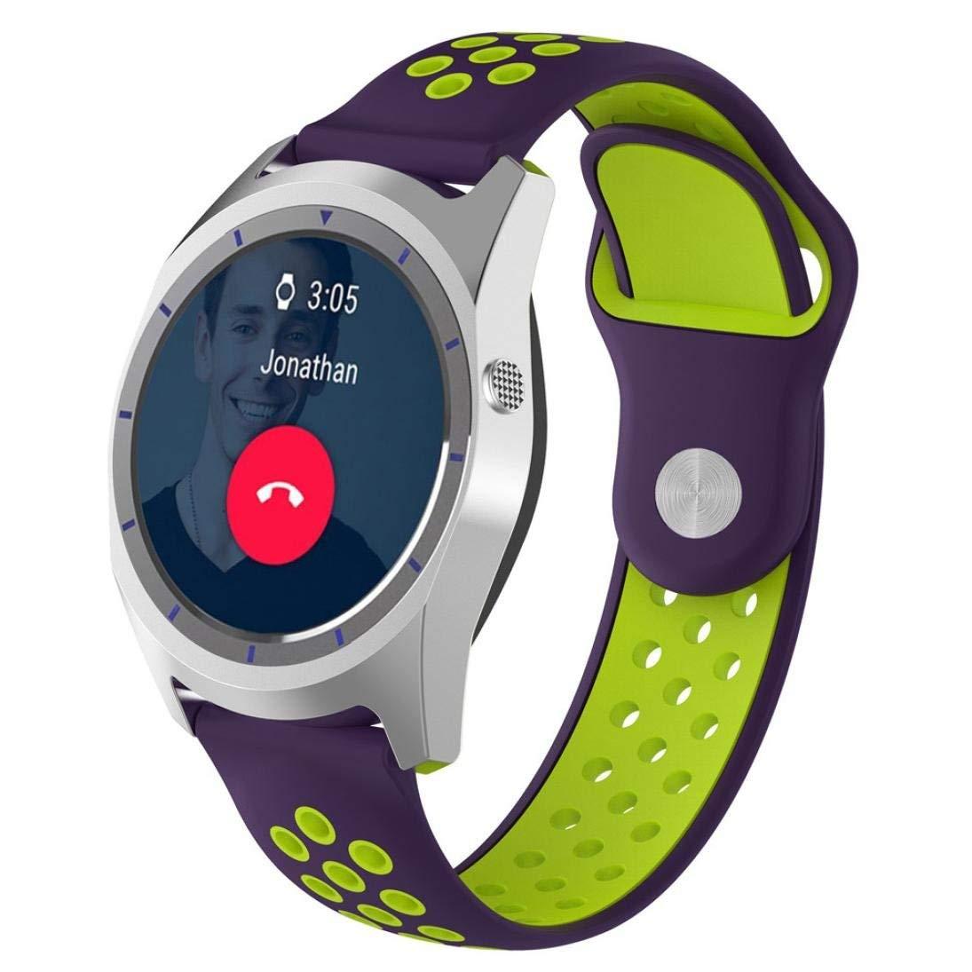 LtrottedJ Replacement Soft Silicagel WatchBand Strap For ZTE Quartz Smartwatch (N)