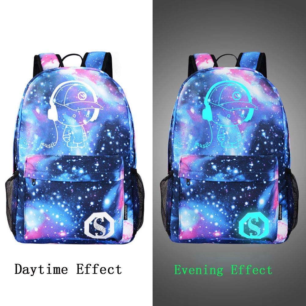 Rumas Starry Sky Canvas Travel Backpack with Wide Shoulder Straps - Large  Capacity 36-55L 227abef294e20