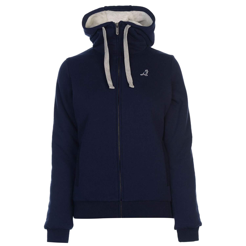 d22b01fb9 Buy Kangol Womens Classic Duffle Coat Top Jacket Long Sleeve Hooded ...