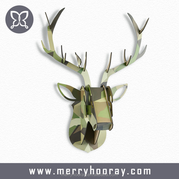 christmas animal trophies wall hanging decorationsmoose art head - Christmas Moose Decorations