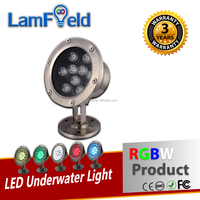 Shock & Crack resistance 15W LED Outdoor Light RGBW Underwater Lamp With DMX RF IR Control