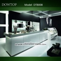 hot sale new design gloss surface led bar table with Acrylic Solid Surface, glass, translucent stone, lacquer wood,