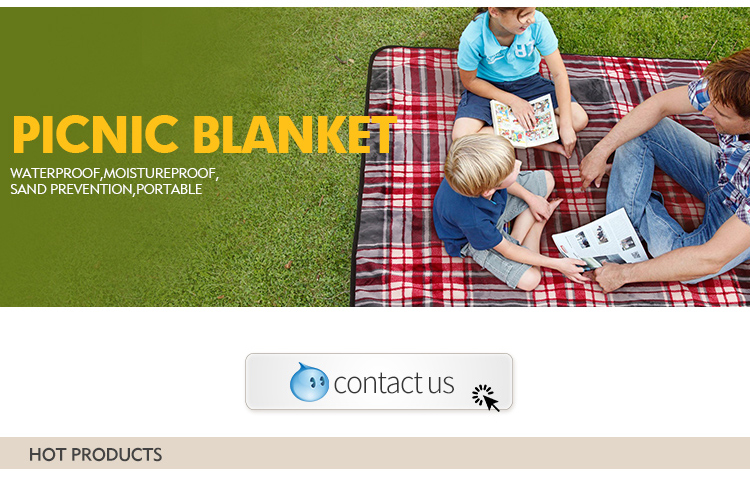 china custom design wholesale outdoor waterproof polyester picnic rug blanket