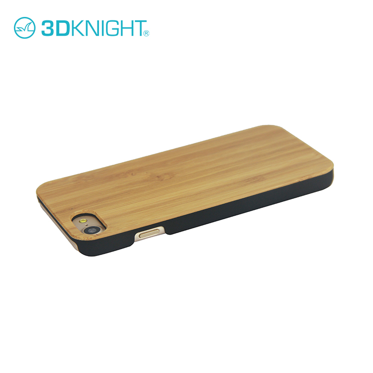 3D Knight mobile phone accessories natural wood carbonized bamboo Handmade Wooden Blank Cover Case for iPhone 8