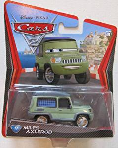 2011 DISNEY PIXAR MOVIE CARS 2 MILES AXLEROD #17