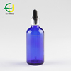 Hot-selling 100ml blue olive oil glass bottle with silver dropper