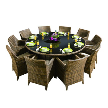 Round Dining Table Outdoor Dinner