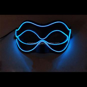 Flashing Mask Halloween Party Masks Light Up El Mask,El Wire Mask ...