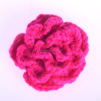 High Quality knitted hand crochet flower for headband
