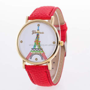 Better price eiffel tower leather london quartz watches