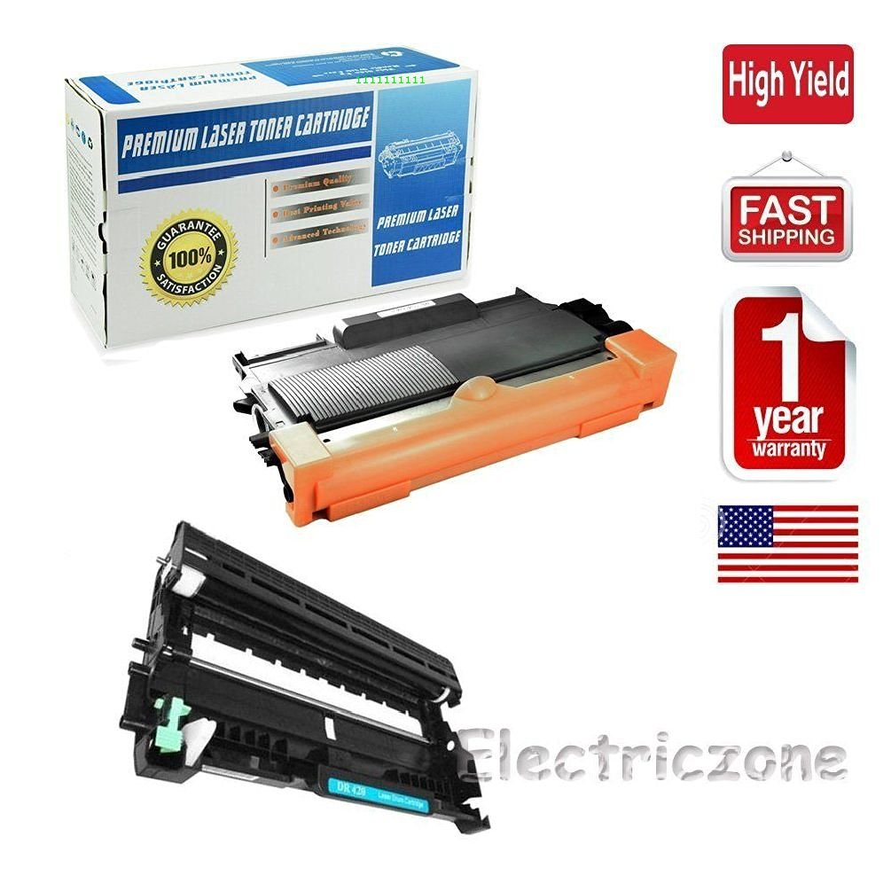 Ledona 2Pk Dr420 Tn450 Black Printer Toner Cartridge & Drum For Brother Mfc-7360N