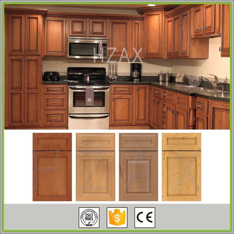 Modern design solid wood kitchen cabinet furniture from for Solid wood modern kitchen cabinets