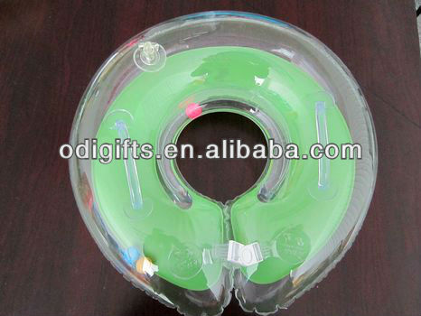 Safe PVC inflatable infant swimming neck ring baby swim ring