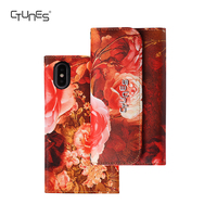 CTUNES 2in1 Detachable Colorful Floral Synthetic Leather Folio Wallet Cases With Credit Card Holder For iPhoneX