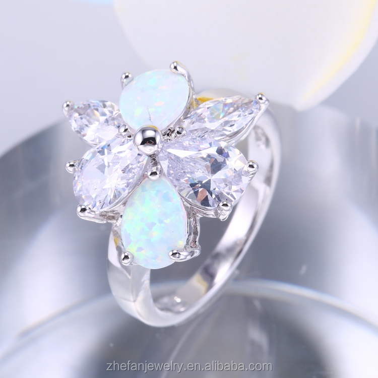 Moroccan silver ring jewelry fashion jewelry opal ring 2017 new design guangzhou jewelry