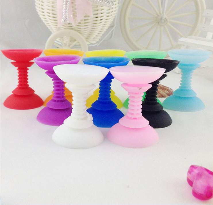 HOT!Attractive 180 Degree Rotating Dual Head Silicone Holder Function Sucker Cable Winder