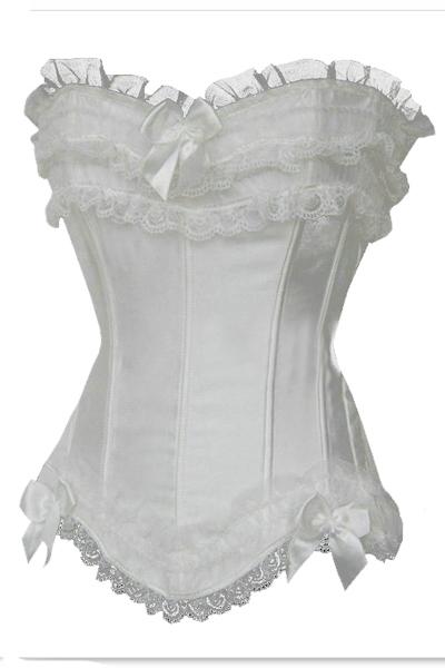 ec27dce2eed Get Quotations · Sexy Cheap White Wedding Lingerie Women Corpetes E  Espartilhos Top Quality Waist Training Cincher Plus Size