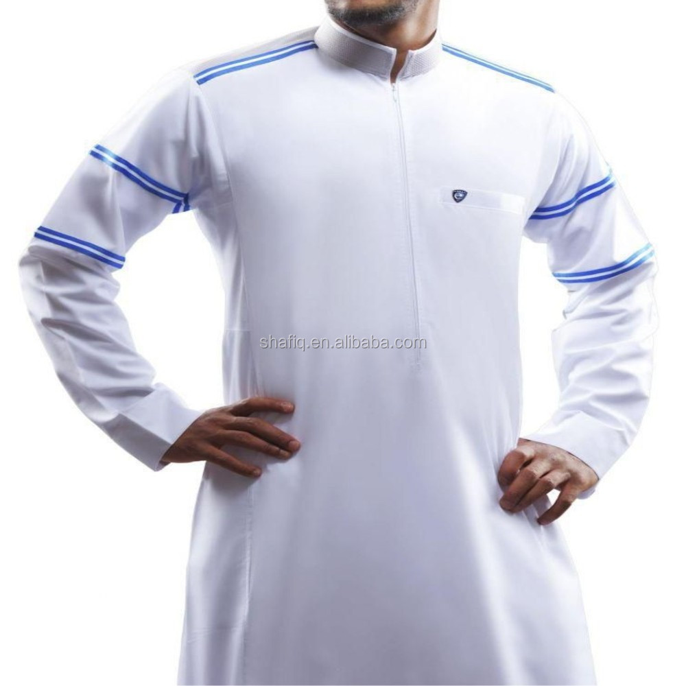 Alshiaka islamic men thobe/ Adults heavy weight thawb for summer season/Arabic style adults thawb