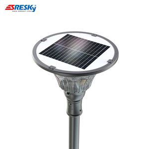 Bsci Factory Oem Home Garden Led Solar Column Lights Outdoor