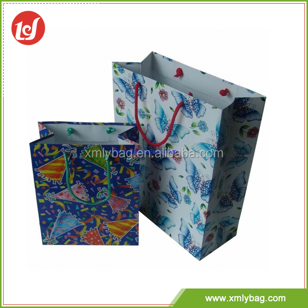 Unique design customized durable printed fancy art paper bag