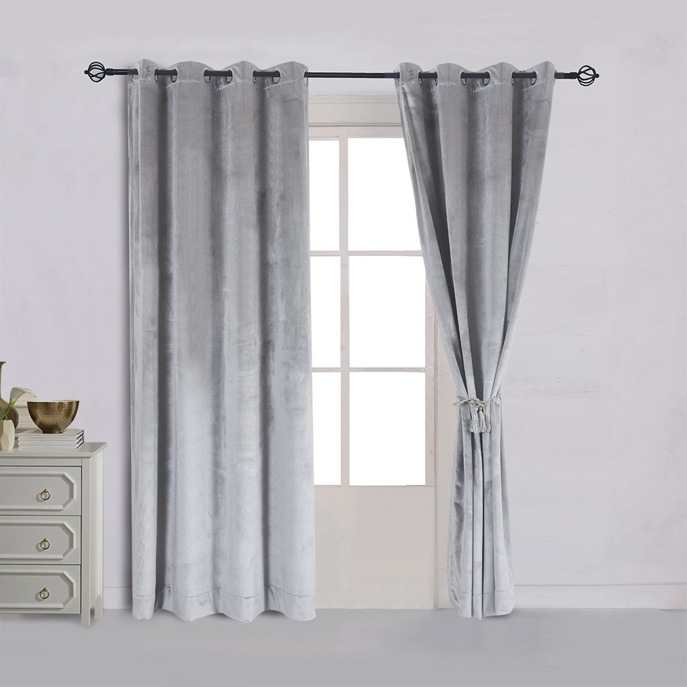 window blue grommet finesse drapes gray panels rods best sensational velvet and white for curtains curtain