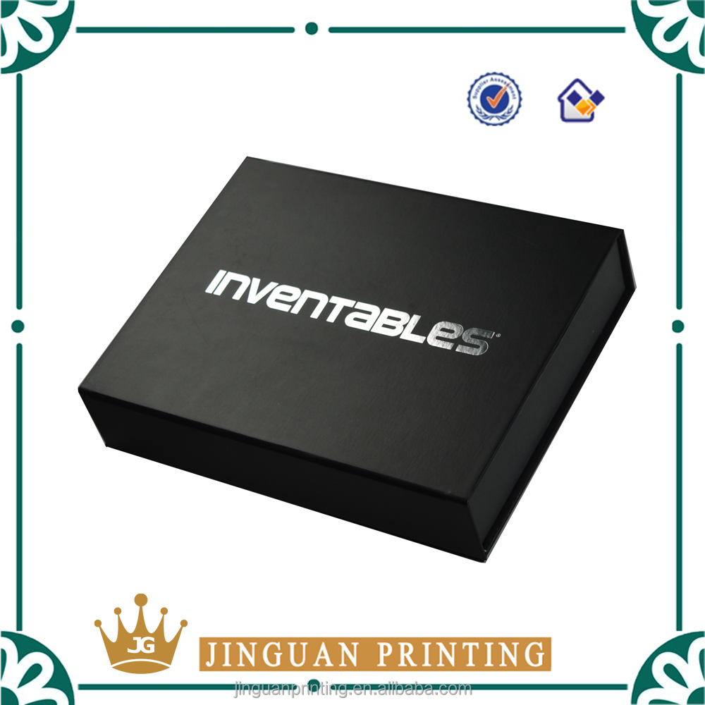 Good Price Cardboard Box Sliver Stamping With EVA Inner Tray Paper Box With Magnet