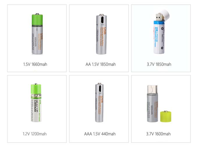 USB Có Thể Sạc Lại 1.5 v Li-Ion Pin Di Động AA 2 túi Pin Lithium