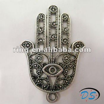 Hamsa hand kabbalah evil eye protection silver pendant charm new hamsa hand kabbalah evil eye protection silver pendant charm new aloadofball Image collections