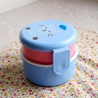 plastic lunch bento box for kids and adults with 2 storage compartments