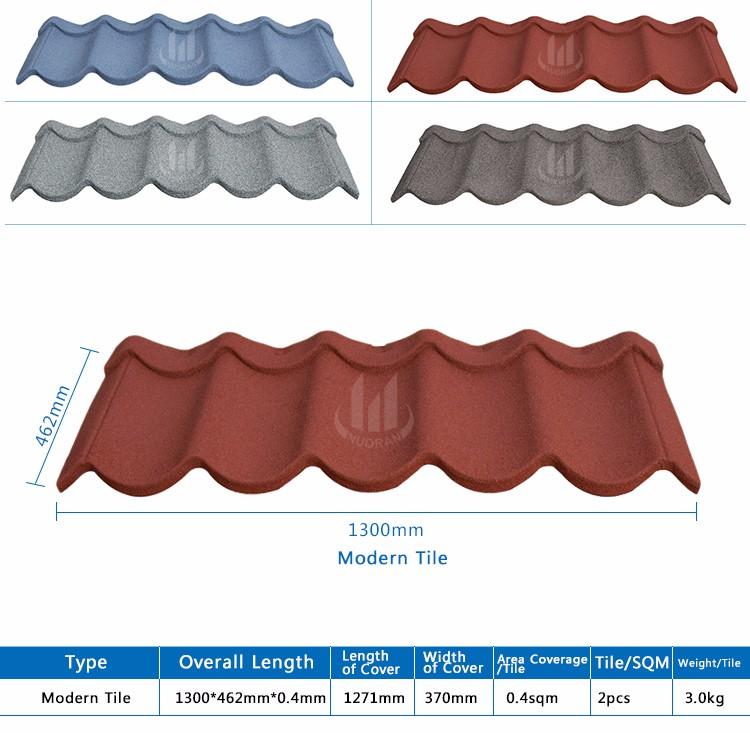 Modern House Design Building Material Tile Roof Shingle Stone Coating Tiles Sri