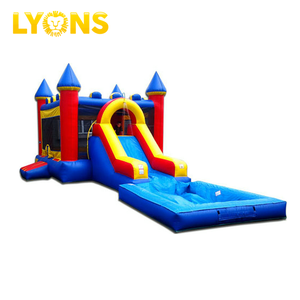 Inflatable Bouncy Castle With Water Slide Bounce House Commercial Inflatable Bouncer