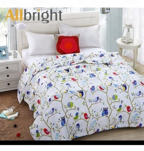 China textile factory ALLBRIGHT fair price forest linen bedding wholesale duvet cover