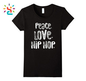 Hot selling cotton t shirt men stylish peace love sublimation printing hip hop clothing