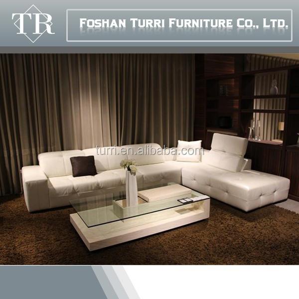 Luxus-Haus gebrauchte möbel modernen weißen leder ecksofa ...