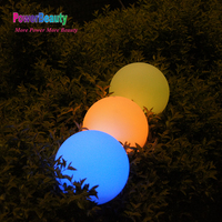 Solar new design plastic swimming pool balls floating pool glow ball light with led