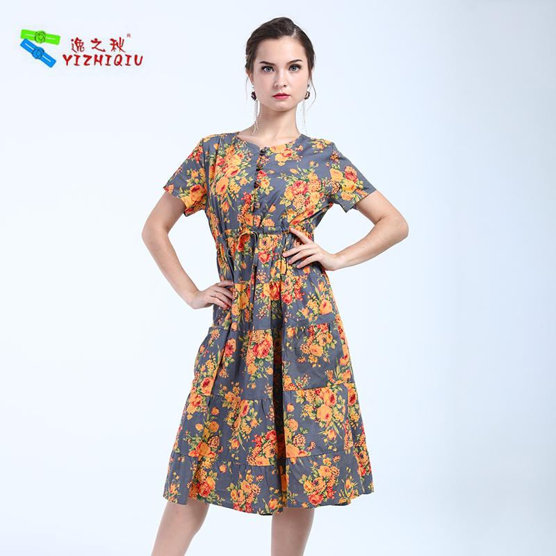 YIZHIQIU Oem Brand Change Floral Custom Dresses