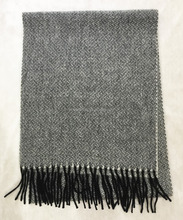 New stylish unique Japan style shawl stole neckwear unisex geometric pattern texture winter wholesale 100%wool scarf for man