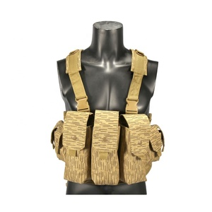 yakeda Outdoor Cycling Combat Vest Airsoft Paintball Military Magazine Pouch CS Wargame Accessories Tactical AK Chest Rig