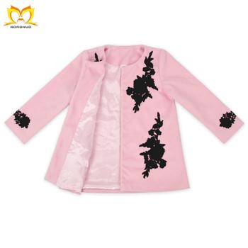 Boutique Kids Children Winter Flower Embroidery Design Clothing Posh
