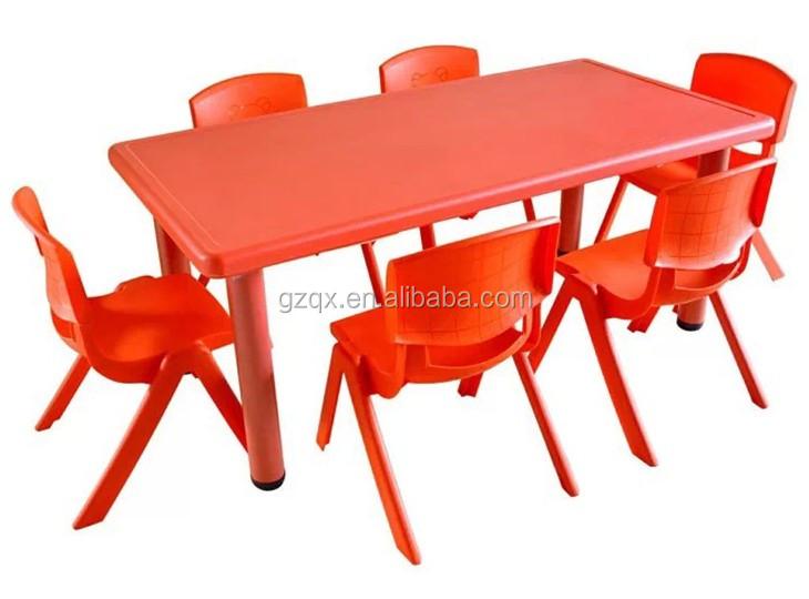 Pl stico barato mesa de comedor y sillas qx 194g little for Sillas de comedor para ninos
