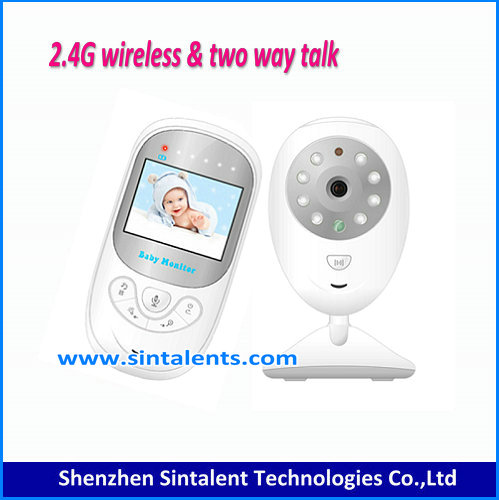 2 Way Sound Talk Wireless Digital Lallabies Video Baby Monitor Camera 2.5 Inch Color IR LED Night Vision Temperature Monitoring