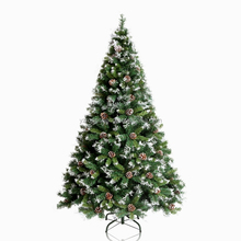 6FT Flocked Snowing White Prelit Artificial Holiday Christmas Tree