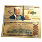 Money Collectible Gifts 24K Gold Banknote Colorful USD 1000000 Dollar Bill money