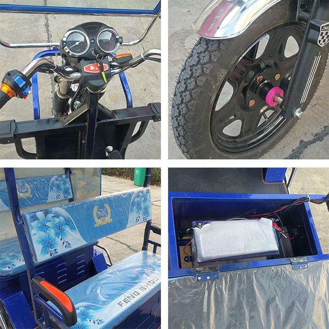 Tuk tuk risciò 800W triciclo 3 ruote risciò