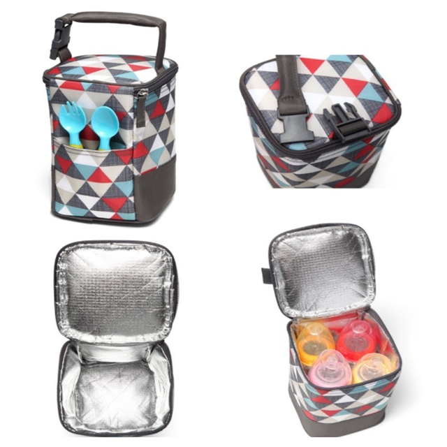 Osgoodway New Arrivals Insulated Fashion Desgin Soft Side Portable Wine Breast Milk Cooler Bag Lunch Box for Baby Picnic