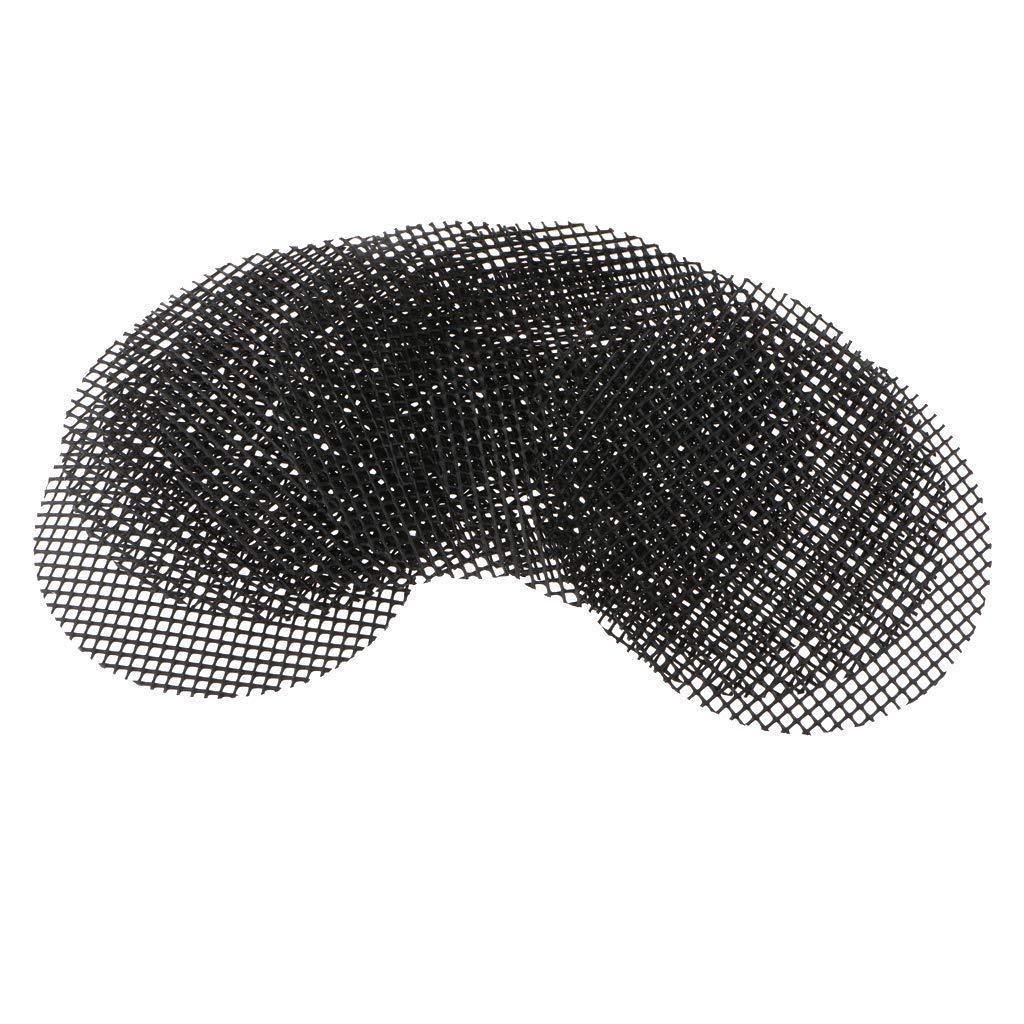 Flameer 5/10 Pcs Plastic Reusable Black Bonsai Tools Potting Mesh Flowerpot Bottom Net - Black, 10 cm 10pcs