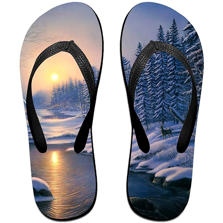 Starmiami Unisex V Flip Flops Animal Artistic Art Snow Personalized Summer Slipper
